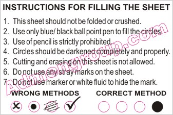 How to fill OMR Sheets