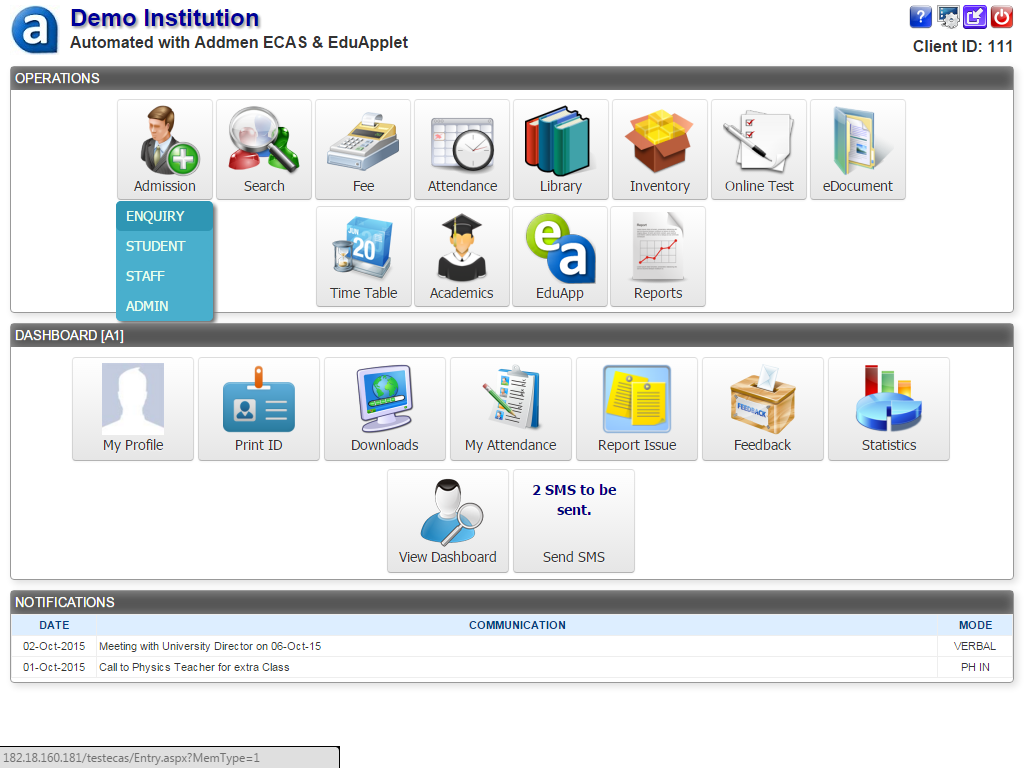 Institute Managment Software