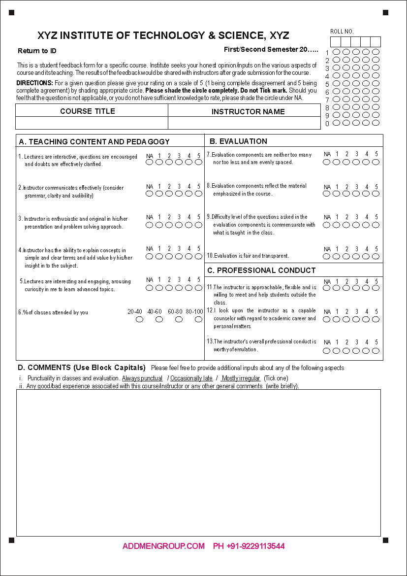 student feedback form template word - feedback form sample