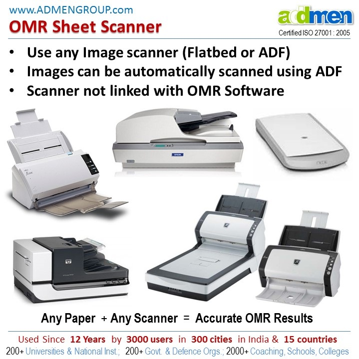 methods used for scanning OMR Answer Sheets